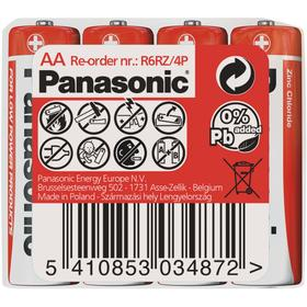 Baterie Panasonic AA Red 4ks